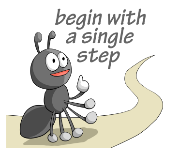 begin with a single step
