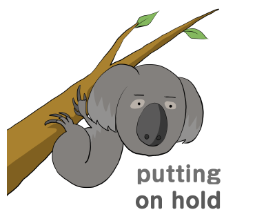 putting on hold Koala