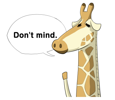 Don't mind Giraffe
