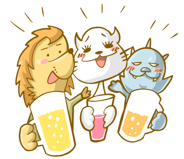 Beer Lion Cat Savage beast